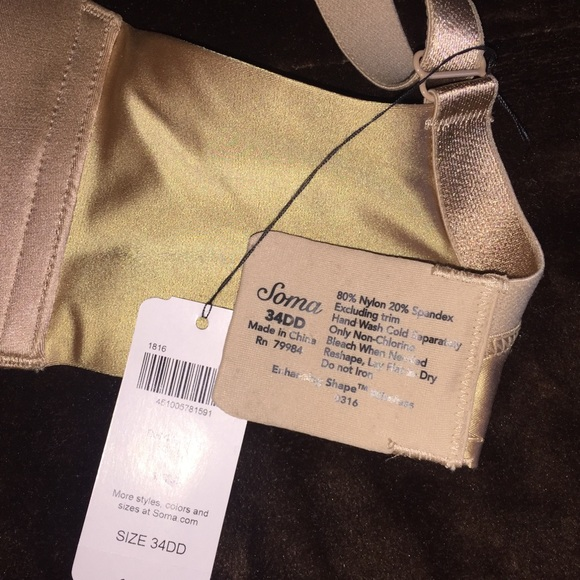 fb72821953 Soma intimates sleepwear bra poshmark jpg 580x580 34dd bra label